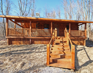 Sunset Cove Cabin for Rent in Hocking Hills Ohio